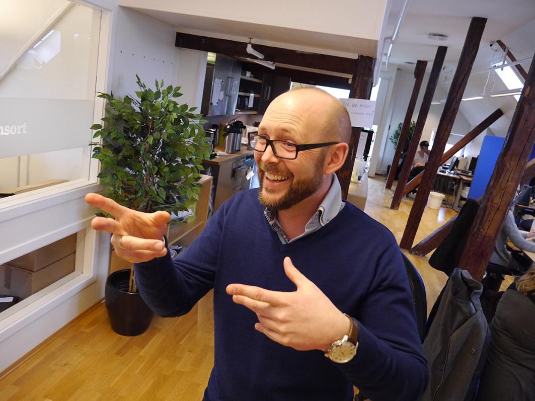 Vekstskaper. - Vi har hatt jevn organisk vekst helt siden oppstarten, sier Kristoffer Møller Rørvik, salgsdirektør i Consort i Kjøpmannsgata som omsatte for nær 20 millioner kroner i fjor. Tekst og foto: Jan-Are Hansen.