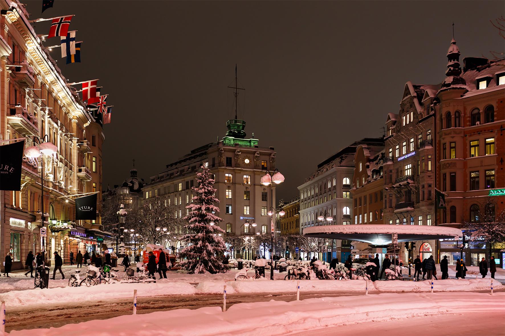 Stureplan, november 2016. Foto: Olof Bergqvist / Shutterstock.com