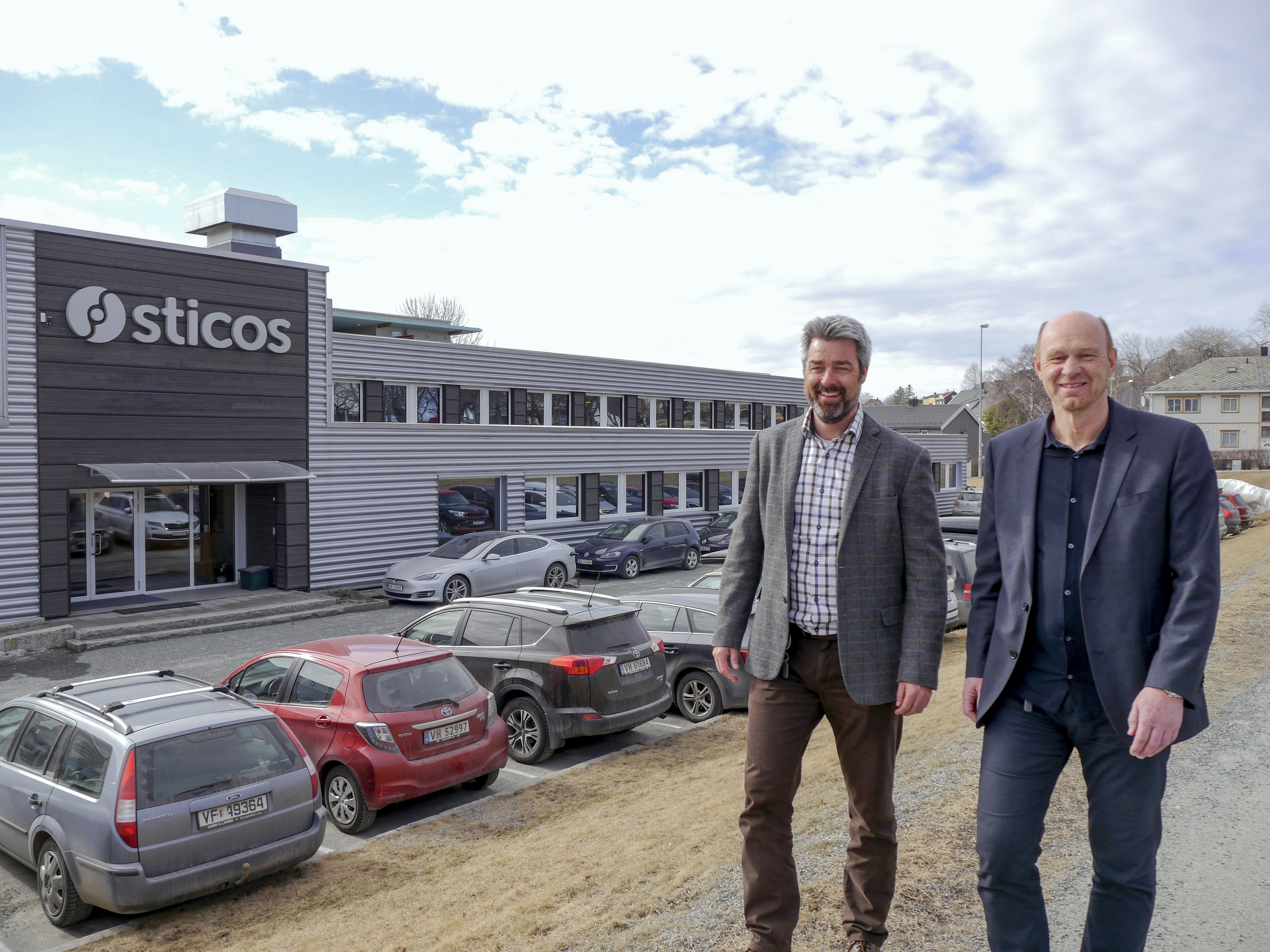 Vekstvinnere. Administrerende direktør Leif Arild Grytbakk og markedssjef Yngve Krane i Sticos.
