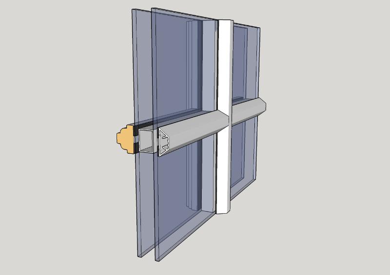 Duplex-sprosser utvendig